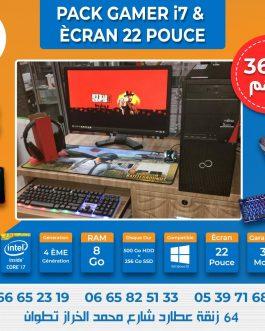 Pack Gamer i7 avec Ecran 22 pouces